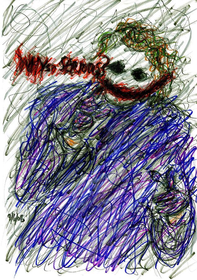 joker why so serious drawing by rachel scott