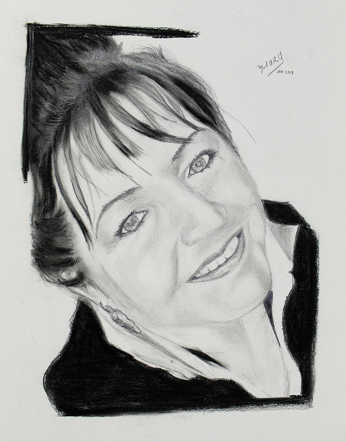 Jolanta - Step 2 Drawing by Miguel Rodriguez