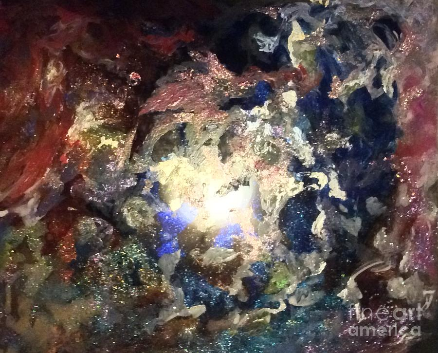 Spacescape Painting - Joleen by Kathleen Fowler