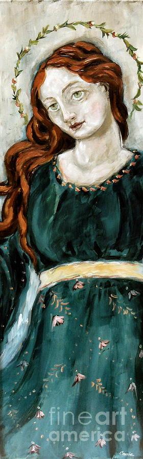 Angel Painting - Jolene by Carrie Joy Byrnes