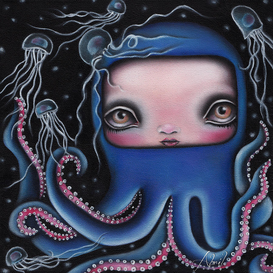 Octopus Painting - Jolenta by  Abril Andrade Griffith