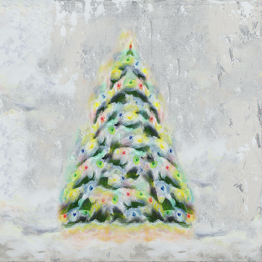 Jolly Christmas Tree Digital Art by Tiffany Hakimipour