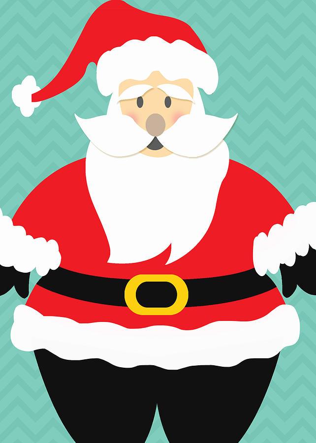 Santa Mixed Media - Jolly Santa Claus by Linda Woods