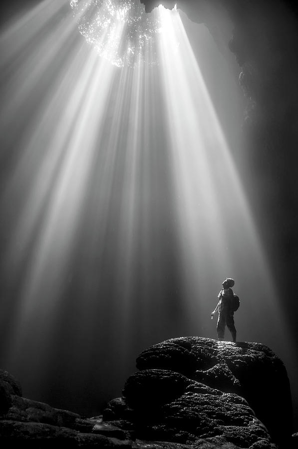 Cave Photograph - Jomblang Cave by Felix Dharma Yudhi