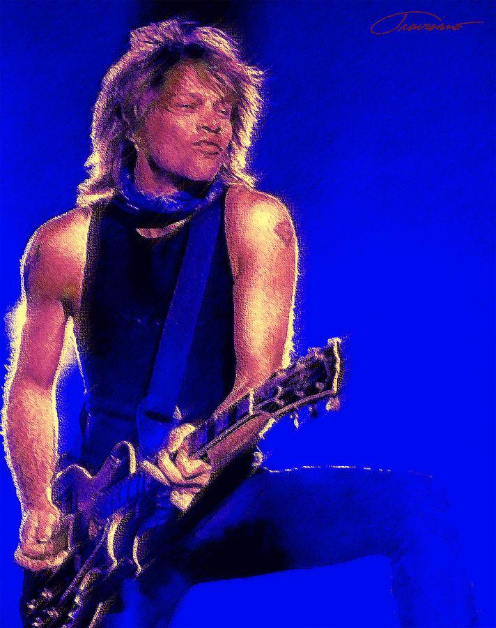 Portraits Painting - Jon Bon Jovi by John Travisano