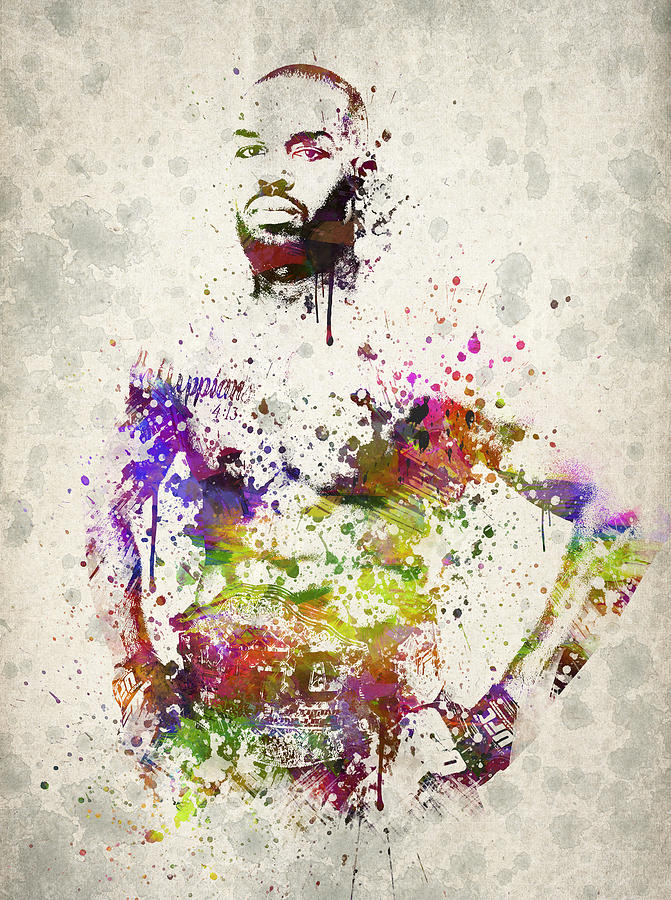 Jon Jones Digital Art - Jon Jones by Aged Pixel