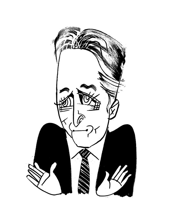 Jon Stewart Drawing by Tom Bachtell