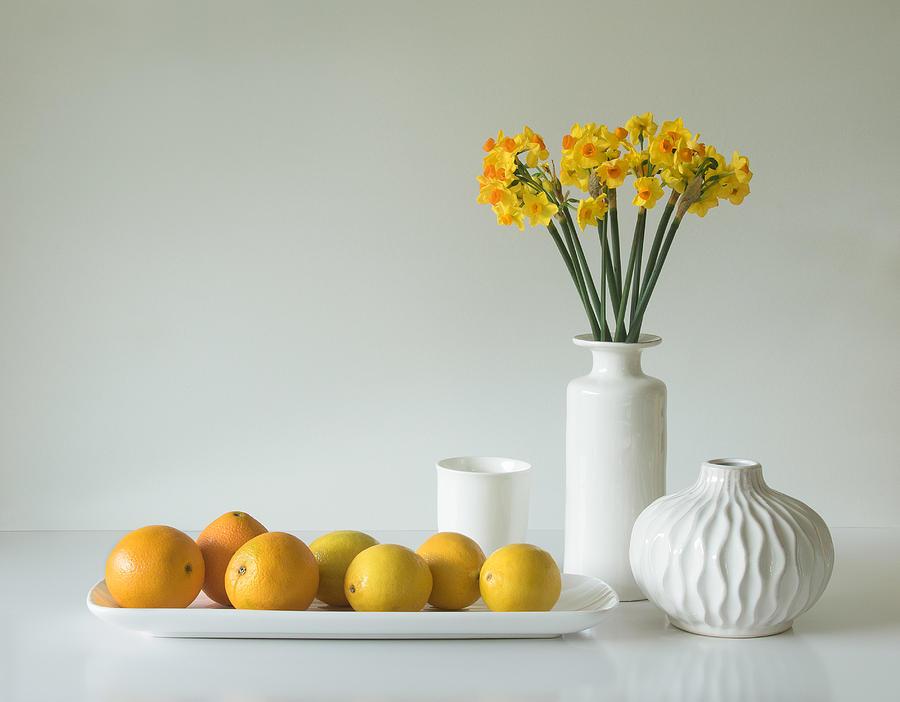 Jonquils Photograph - Jonquils And Citrus by Jacqueline Hammer
