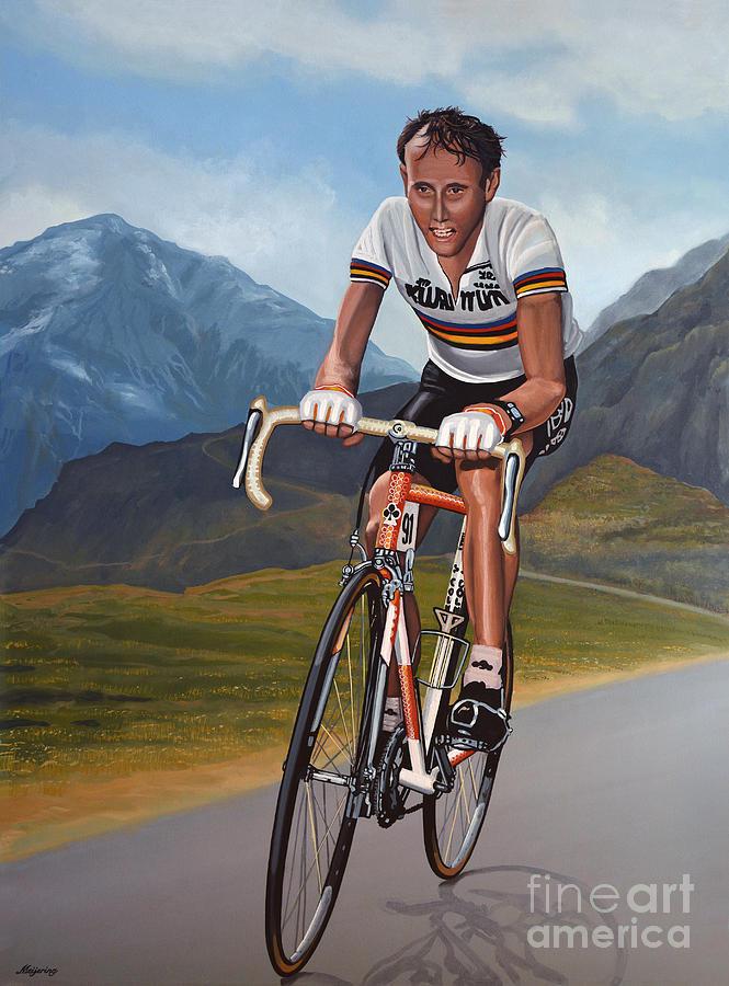 Sport Painting - Joop Zoetemelk by Paul Meijering