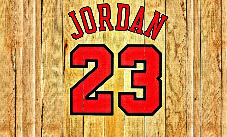 Michael Jordan Number 23 Logo: Jordan 23 Poster Painting By Florian Rodarte