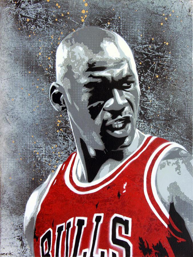 Michael Jordan Painting - Jordan by Bobby Zeik