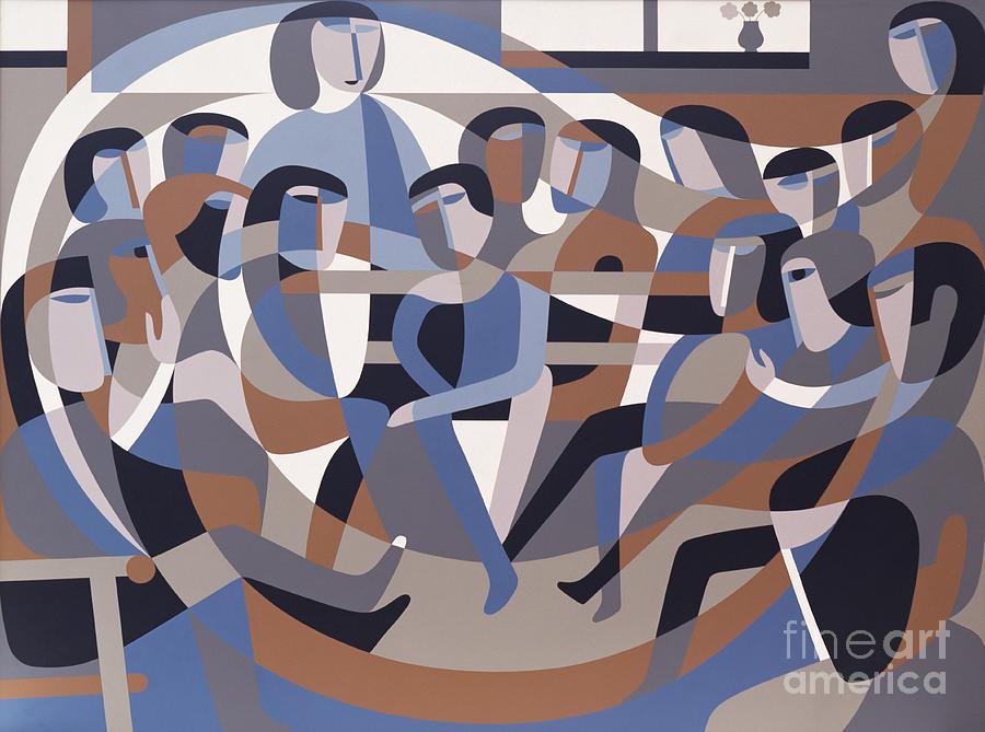 Jordan Painting - Jordan Quaker Meeting 2 by Ron Waddams