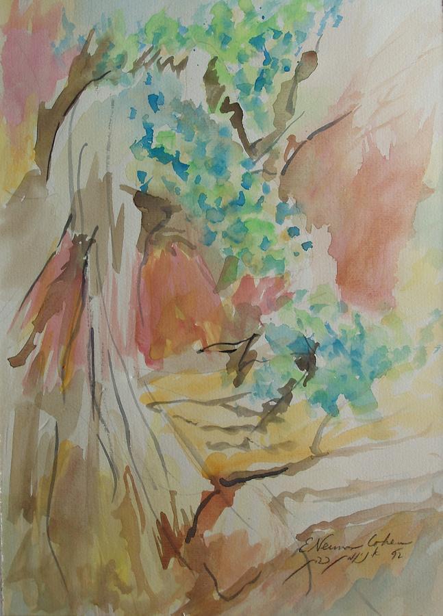 Jordan Painting - Jordan River Sources by Esther Newman-Cohen