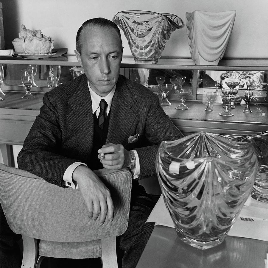 Joseph B. Platt With A Vase Of His Own Design Photograph by Luis Lemus