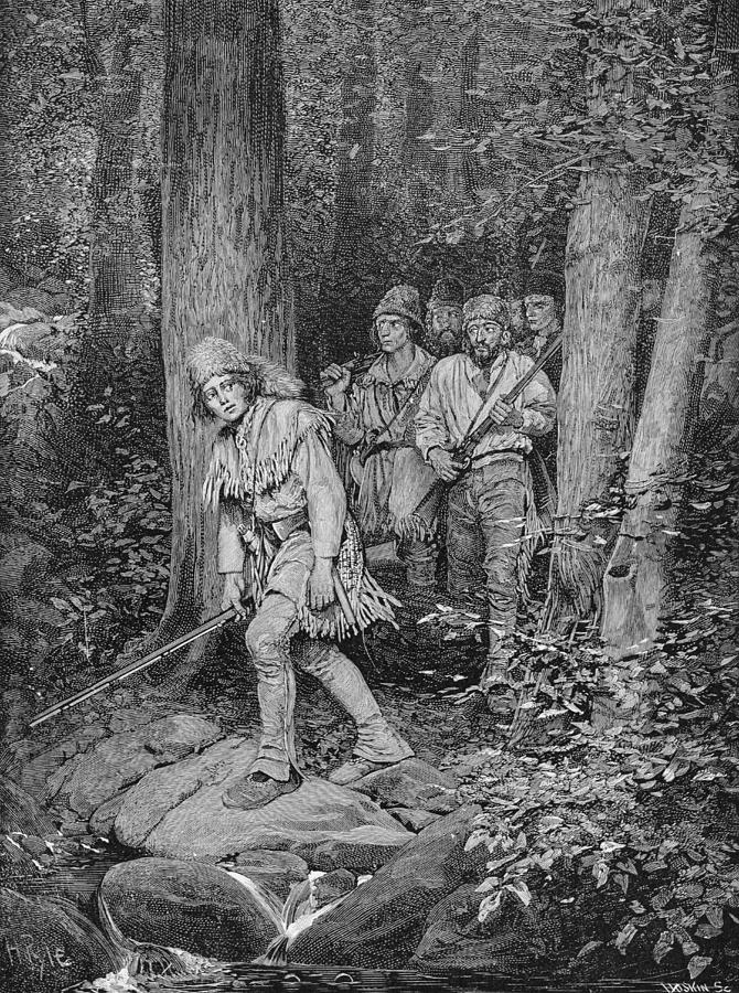 Vengeance Photograph - Joseph Brown Leading His Company To Nicojack, The Stronghold Of The Chickamaugas, Engraved by Howard Pyle