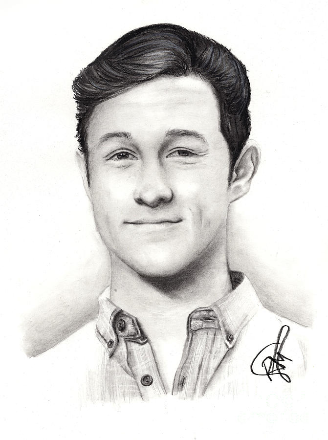 Joseph Gordon Levitt Drawing - Joseph Gordon Levitt 2 by Rosalinda Markle