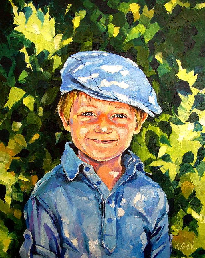 Portrait Painting - Joseph by Keren Gorzhaltsan