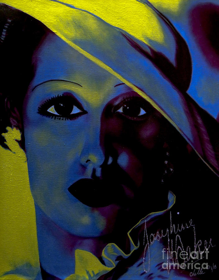 Acrylic Painting - Josephine Baker by Chelle Brantley