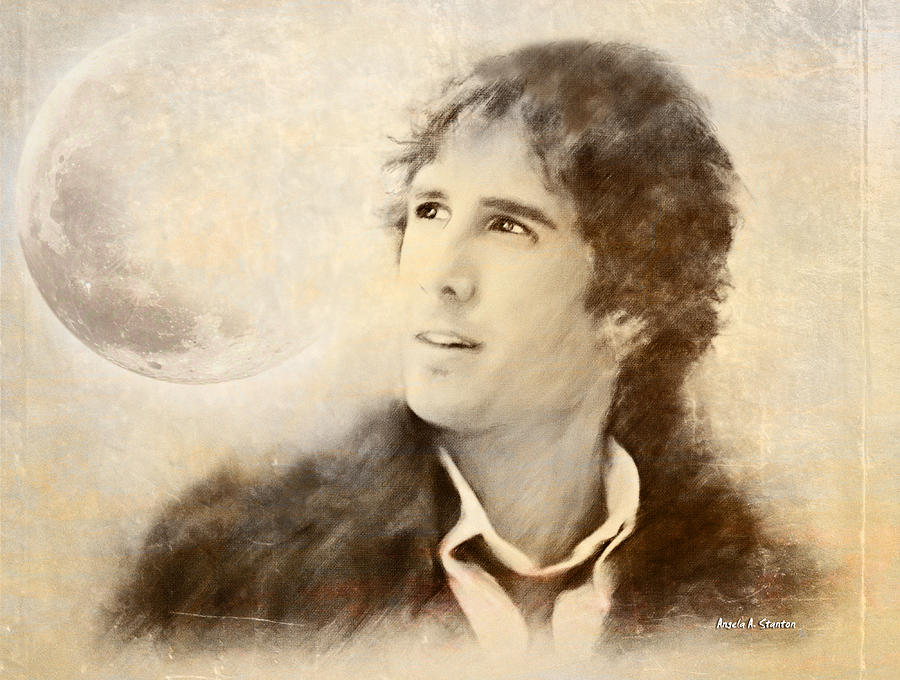 Josh Groban Painting - Josh Groban On A Cold Winter Night by Angela A Stanton