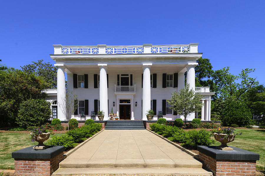 Georgia Photograph - Joshua Hill House In Madison Georgia by Steve Samples