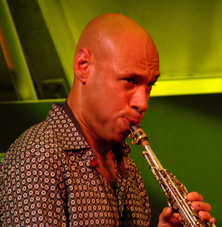 Closeup Photograph - Joshua Redman 2 by Eva Kato