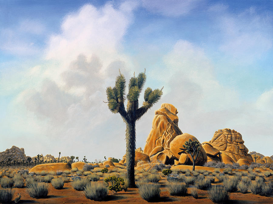 Painting Painting - Joshua Tree by Mark Junge