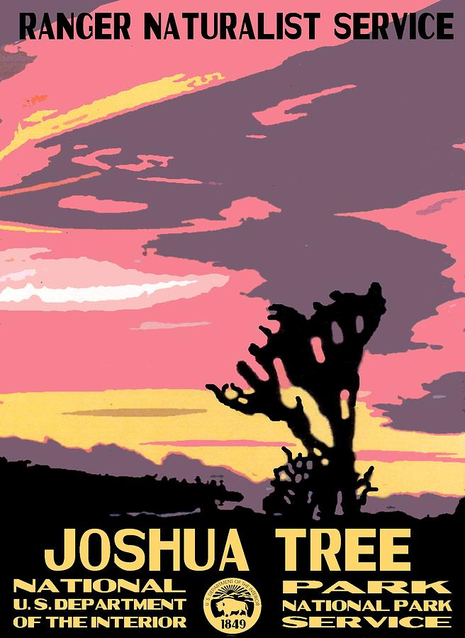 Joshua Tree National Park Vintage Poster Photograph by ...