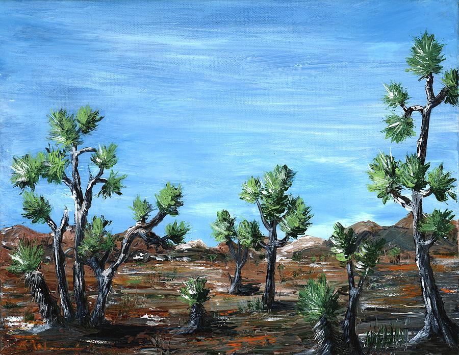 Malakhova Painting - Joshua Trees by Anastasiya Malakhova