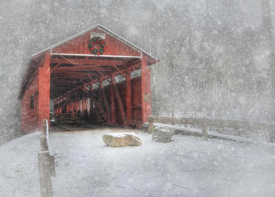 Bridge Photograph - Josiah Hess Covered Bridge by Lori Deiter