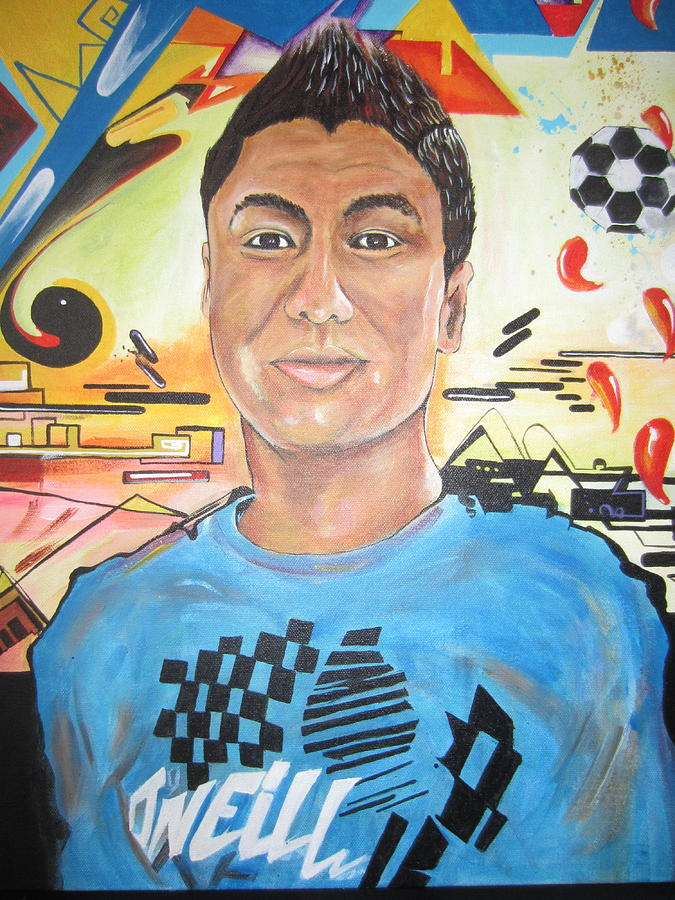 Portrait Painting - Josias 1991-2012 by Erik Franco