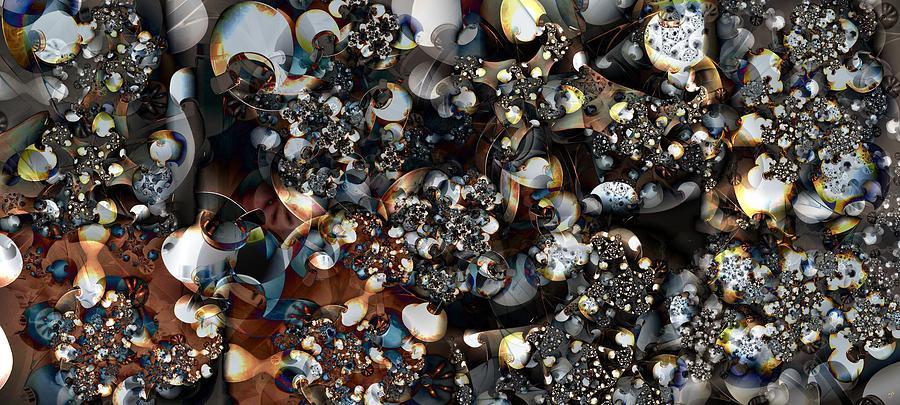 Forms Digital Art - Jostling  by Ron Bissett