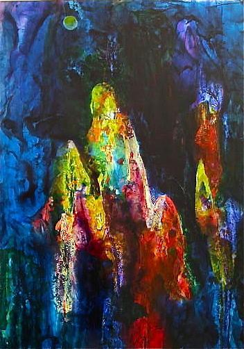 Shawl Painting - Journey by Janice Nabors Raiteri
