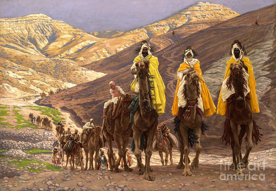 Christmas Painting - Journey Of The Magi by Tissot