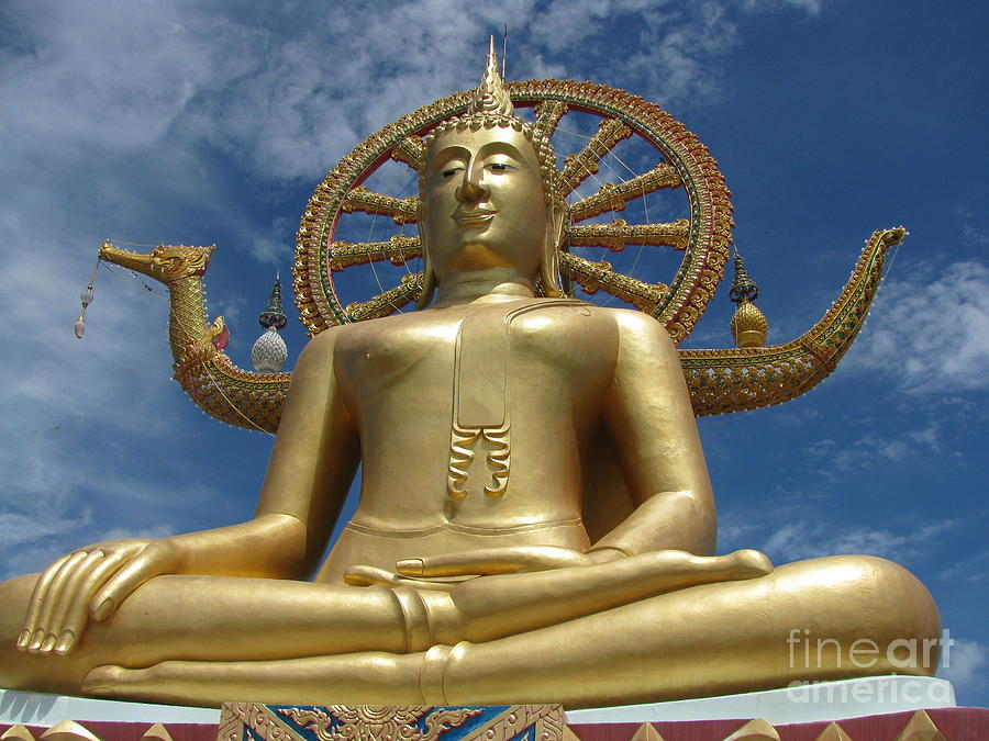 Big Buddha Photograph - Journey To Enlightenment by Stephanie Woerndle