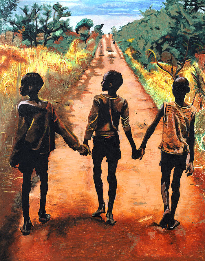 Africa Painting - Journey To Salvation by Andre Ajibade