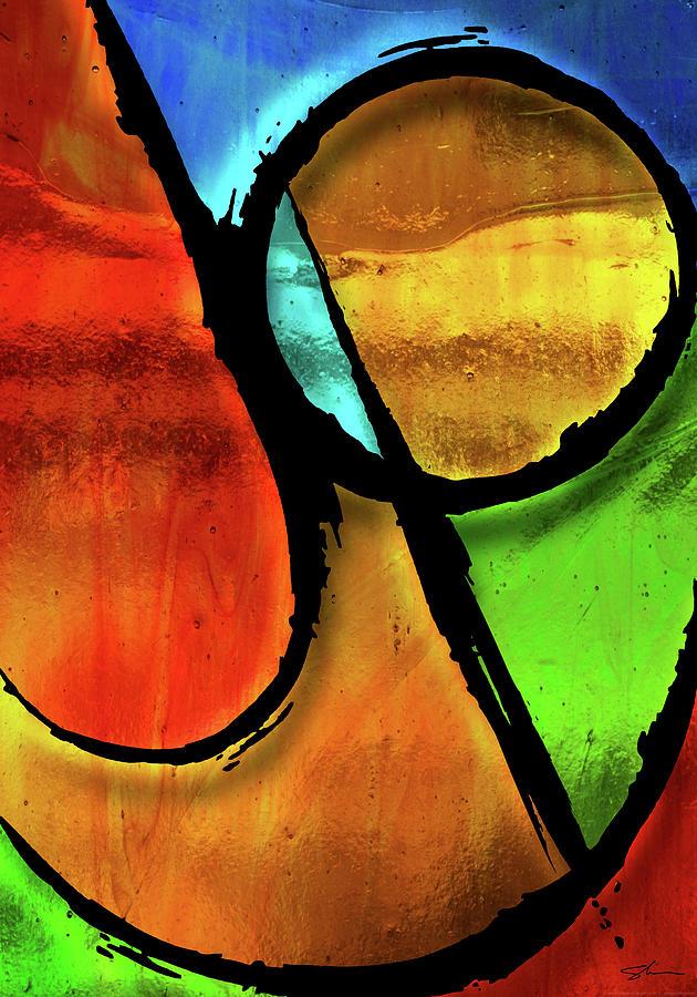 Joy Mixed Media - Joy-abstract by Shevon Johnson