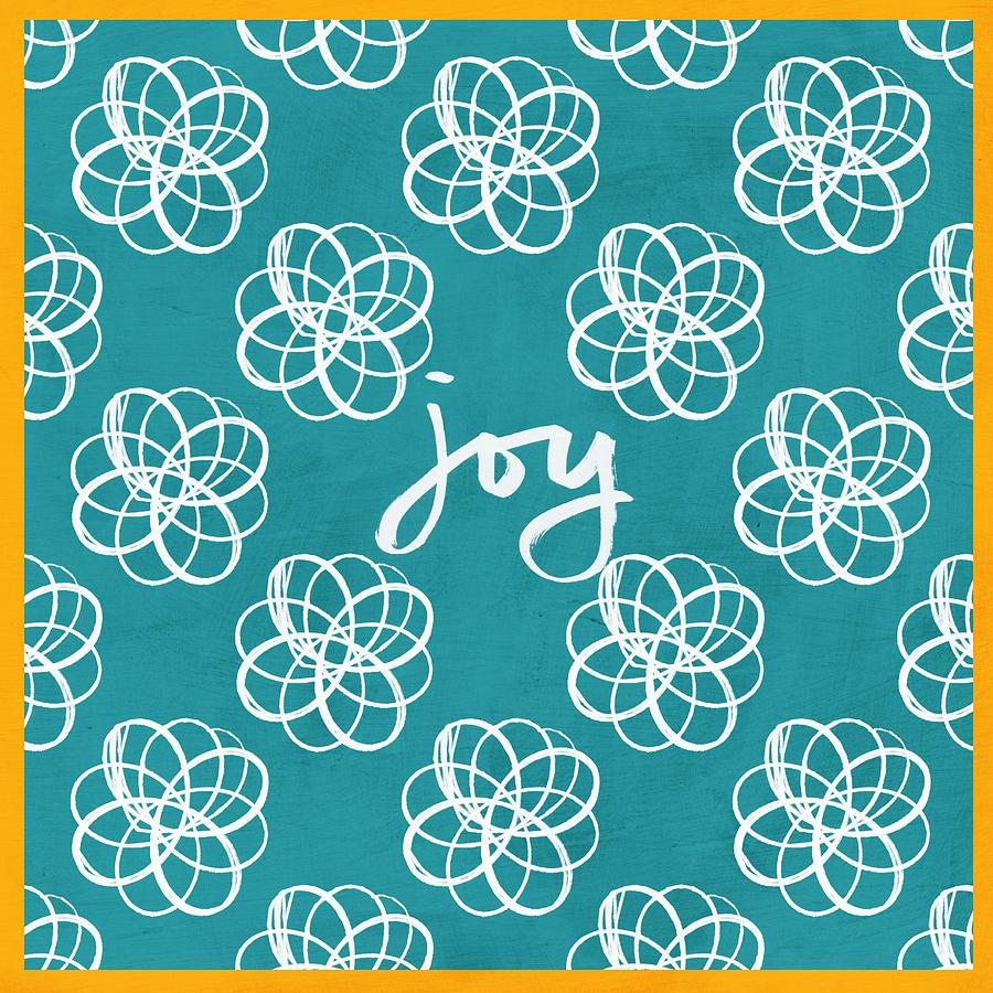 Joy Boho Floral Print Mixed Media