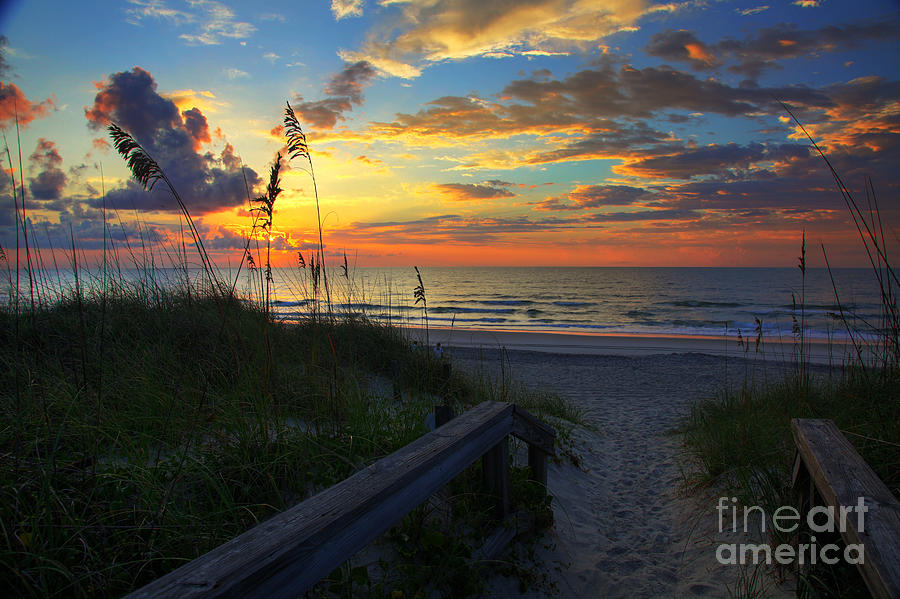 North Carolina Photograph - Joy Comes In The Morning Sunrise Carolina Beach Nc by Wayne Moran