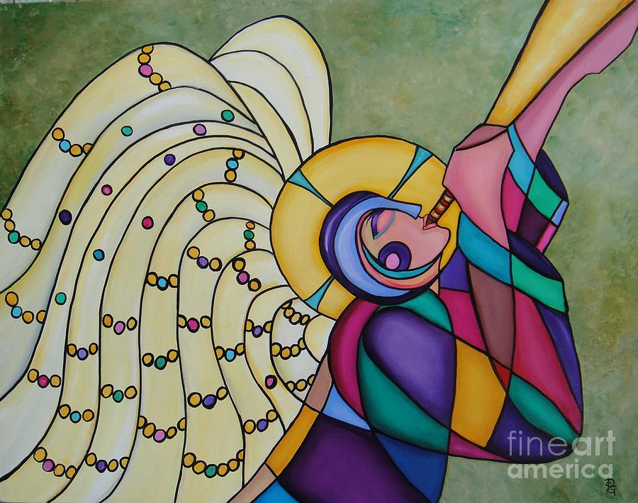 Angel Painting - Joy by Deborah Glasgow