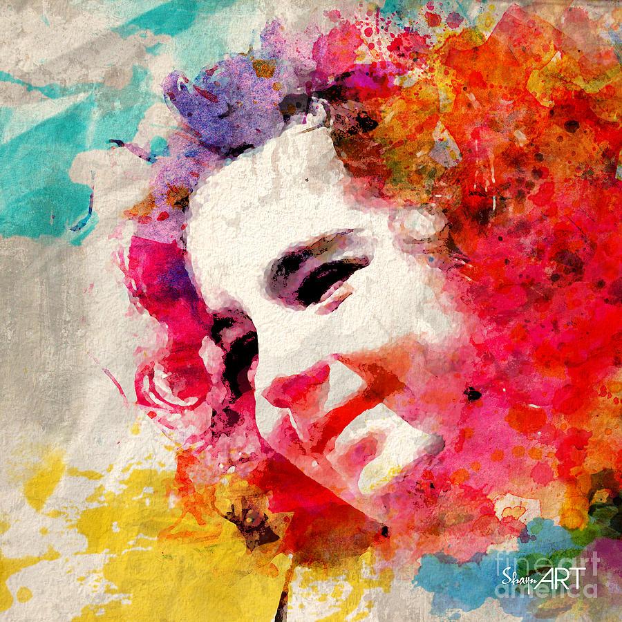 Watercolor Digital Art - JOY by Donika Nikova