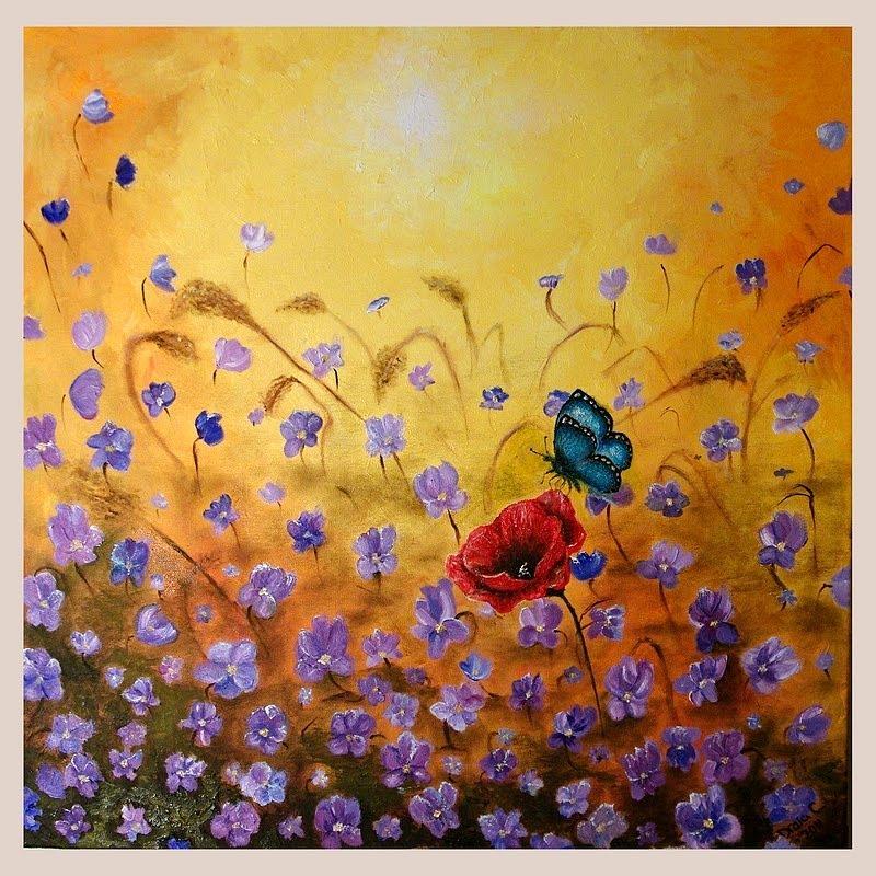 Landscape Painting - Joy by Draia Coralia