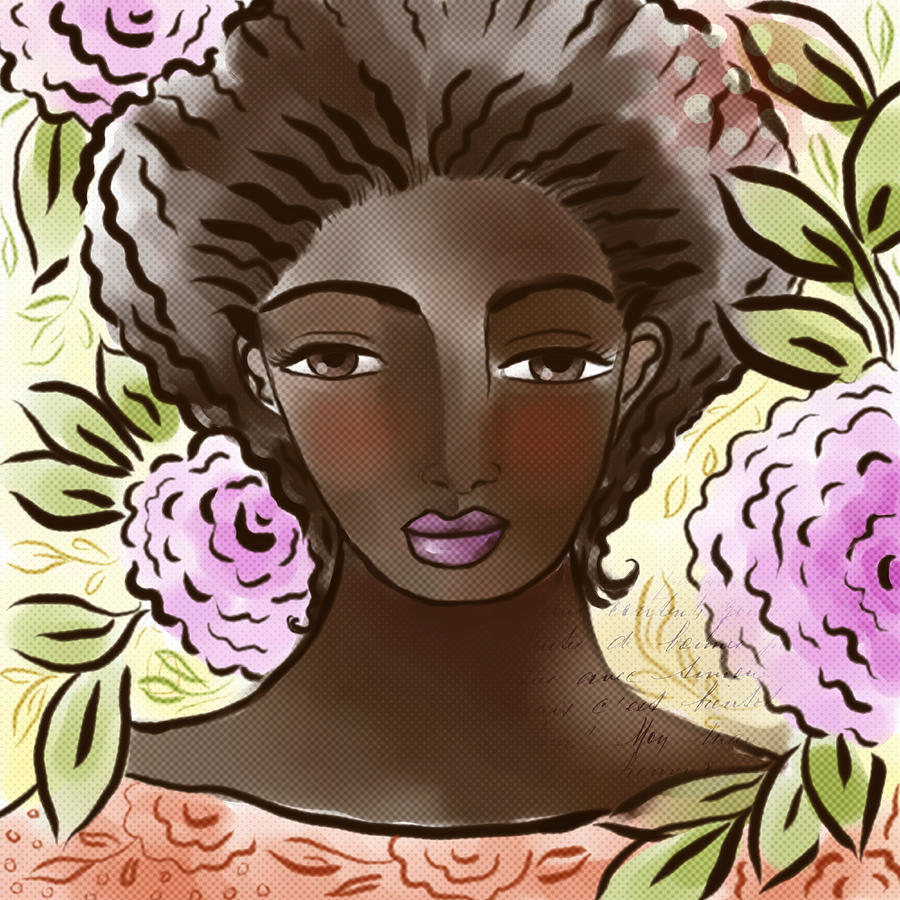 Digital Digital Art - Joy In My Flower Garden by Elaine Jackson