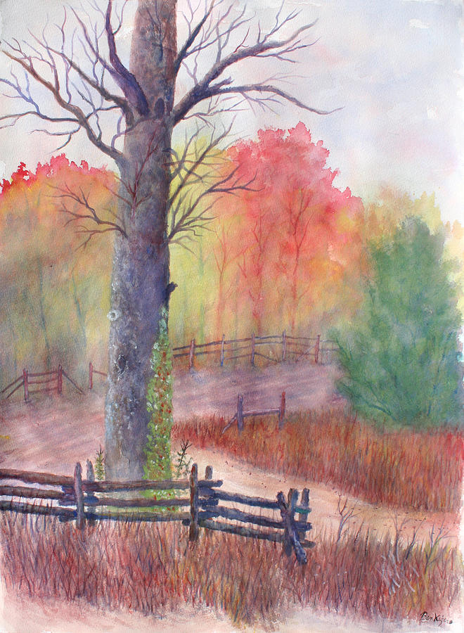 Fall Painting - Joy of Fall by Ben Kiger