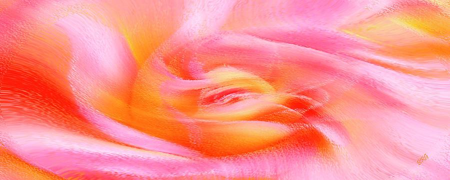 Rose Abstract Photograph - Joy - Rose by Ben and Raisa Gertsberg