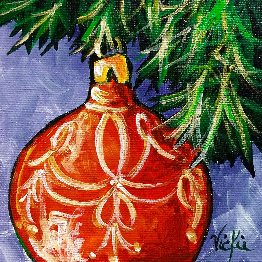 Ornament Painting - Joy by Vickie Warner