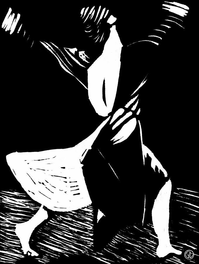 Woman Drawing - Joyful Dance by Gun Legler