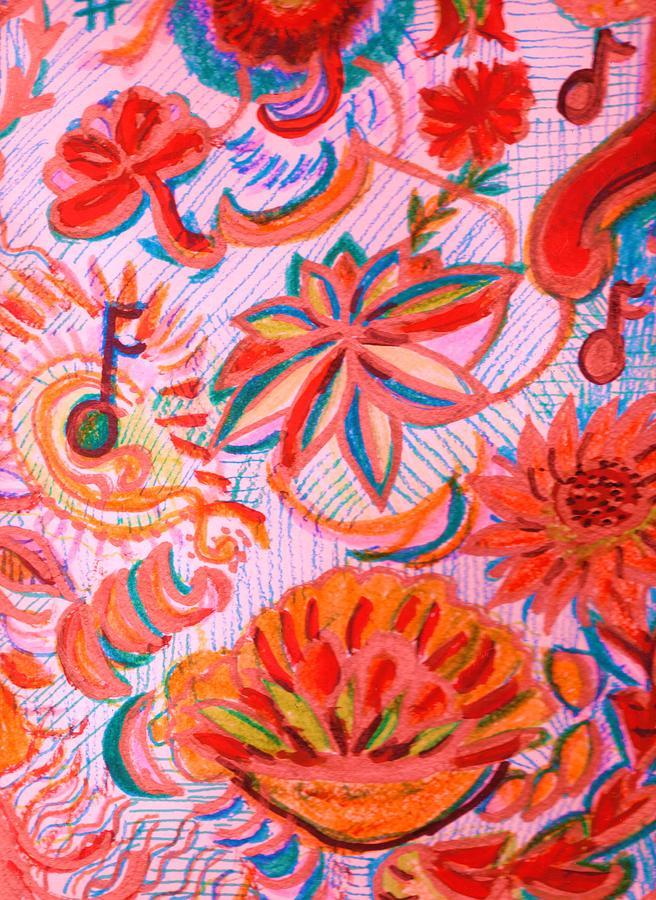 Joyful Drawing - Joyful Joyful by Anne-Elizabeth Whiteway