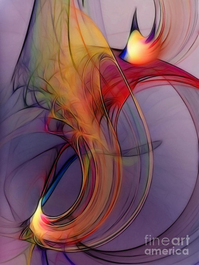 Joyful Leap-Abstract Art by Karin Kuhlmann