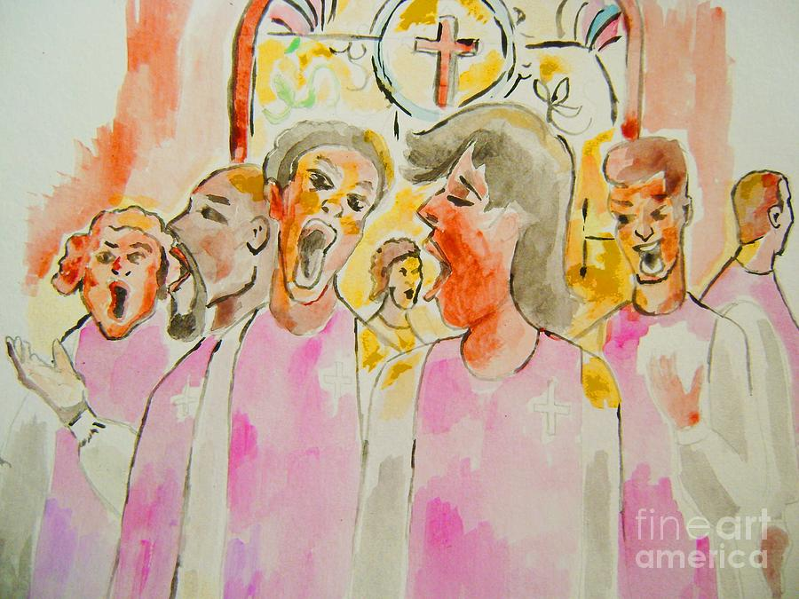 Music Painting - Joyful Noise by Sidney Holmes