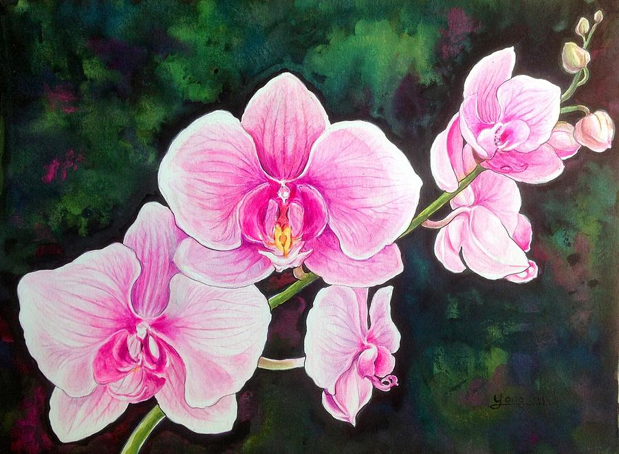 Orchid Painting - Joyful Orchid by YongWoon Suh